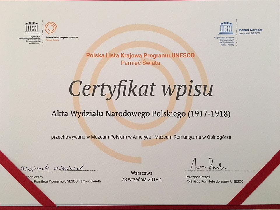 """Akta WNP z kolekcji MPA wpisane na Listę Krajową Programu UNESCO """"Pamięć Świata"""""""