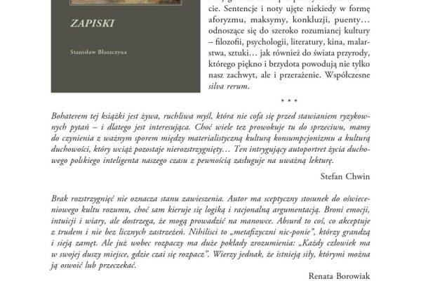 a1. Stanislaw Blaszczyna – ZAPISKI