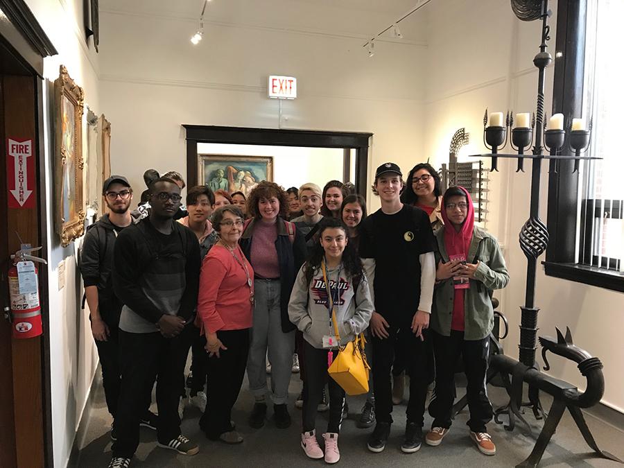 De Paul University students touring PMA!